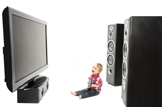 television, 3D, 2D, infant, baby development
