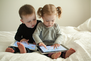 iPad, tablet, touch screen, preschooler, school-age, toddler